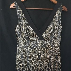 Jones New York Black & Gold Dress